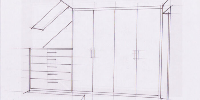 Einbauschrank Skizze